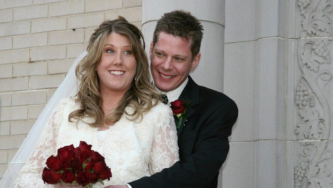 Jennifer Williamson and Kevin Kennedy on their wedding day.