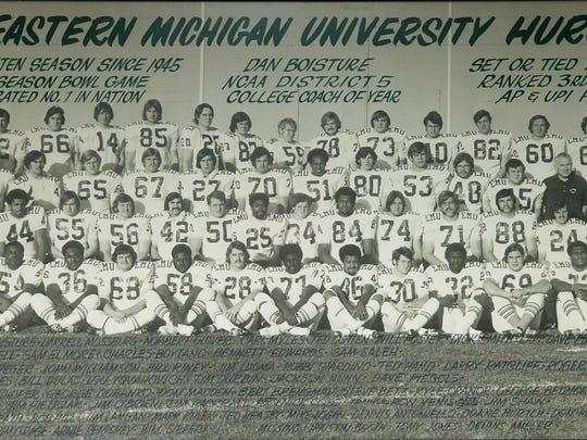 Ted Hand, number 50 in the second row, is a West Milford High School graduate.
