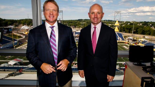 Monday Night Football's Jon Gruden (left) and Sean McDonough.