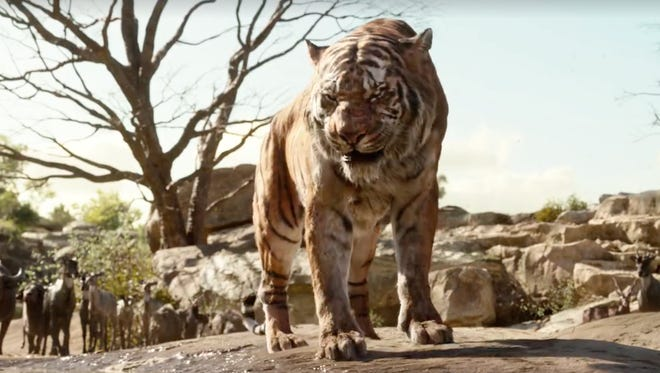 Shere Khan is terrifying but also Idris Elba is love.