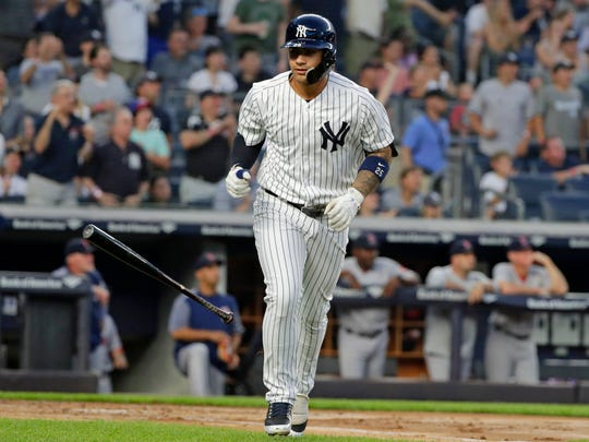 """New York Yankees rookie Gleyber Torres isn't happy about being on the 10-day disabled list due to a hip strain but manager Brett Boone says """"it's minor enough where it's not going to be a long-time thing.''"""