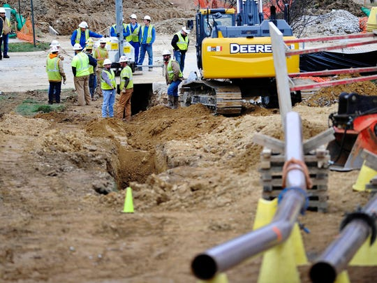 As crews worked to repair the gas leak, nearby residents had to leave their homes or were not allowed to return.