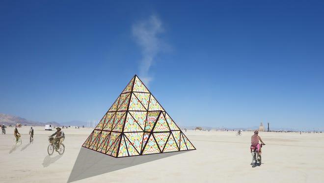 Bay Area artist Dicapria is bringing a gummy bear pyramid to Burning Man 2017.