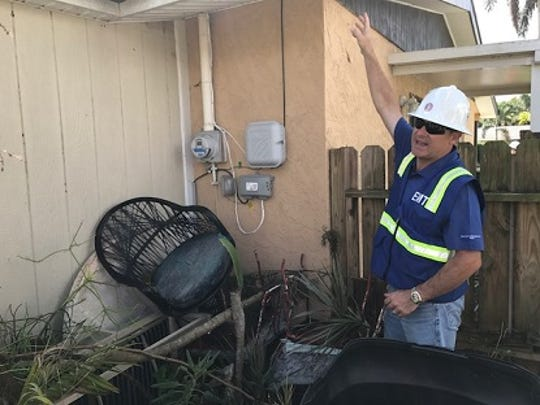 Eric Silagy, CEO and president of Florida Power & Light, made a visit to utility repair crews in Fort Myers on Tuesday and vowed to have the 2 percent of customers currently without electricity due to Hurricane Irma back on by Friday. He said some problems, like damaged electrical wiring that was not part of the FPL system, could hamper efforts to restore power at some homes.