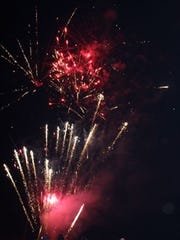 Fireworks fill the sky during the Sarepta July 4 Celebration.