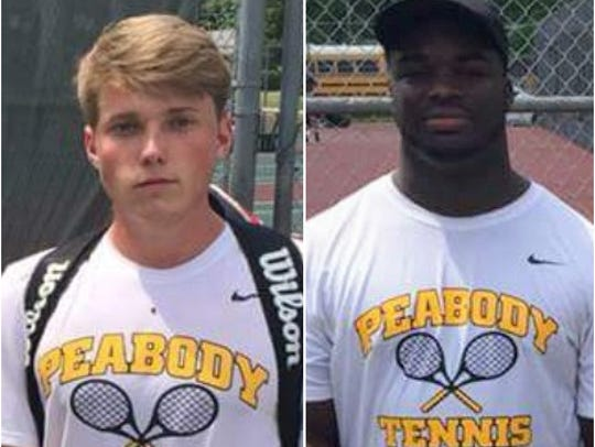 Peabody doubles team Sterling Burch (left) and Robert