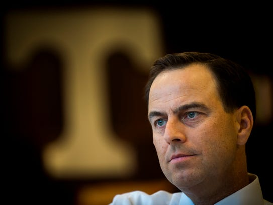 University of Tennessee athletic director John Currie.