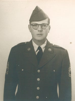 """Sgt. Samuel Howard died in December 1967 after contracting malaria while serving in Vietnam. His name is on the Vietnam Memorial. Now a picture will accompany it. """"Given the frame that I found it in, it must have been my mother's favorite military photo of him,"""" his son Greg Howard said."""