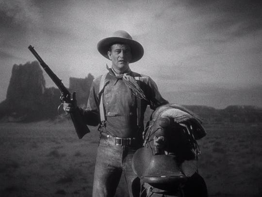 """John Wayne cemented his star status in John Ford's classic 1939 Western """"Stagecoach."""""""
