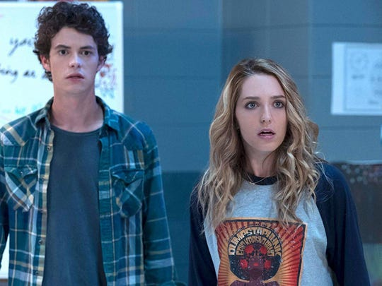"""Israel Broussard and Jessica Rothe in """"Happy Death Day 2U."""""""