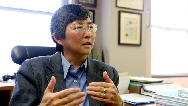 Judge Lynn Nakamoto speaks about being appointed to the Oregon Supreme Court by Gov. Kate Brown. Photographed at the Oregon Court of Appeals offices in Salem on Monday, Dec. 7, 2015.