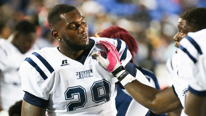 The Jackson State defense, led by linebacker Javancy Jones (29), needs to improve if the Tigers hope to beat Grambling State on Saturday.