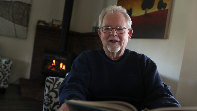 Book author Roger Baum at his home in Redding.