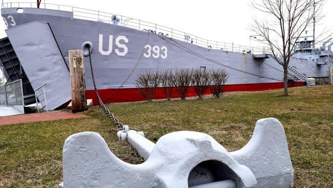 USS LST 393 Veterans Museum in Muskegon, Michigan, is housed in World War II-era landing ship.
