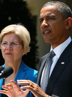 President Obama and Sen. Elizabeth Warren at the White House in 2011.