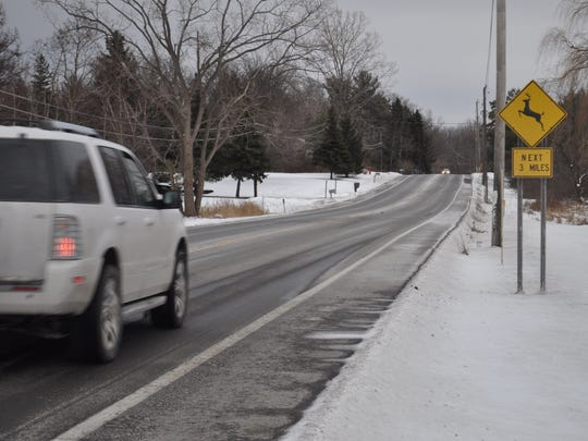 The 1500 block of Route 96, where Rosalyn Degraw, 43, of Ovid, was hitchhiking early on the morning of Dec. 4 when she was also killed. Degraw was in the roadway when she was hit, according to New York State Police.