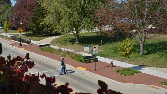 Decorative bumpouts with trees and grasses will be created to  beautify National Avenue. The bumpouts also are expected to make crossing streets safer because traffic tends to slow down when the road narrows.