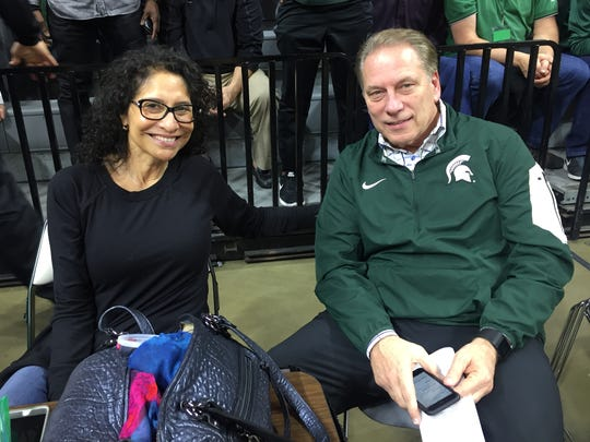 Michigan State basketball coach Tom Izzo and his wife,