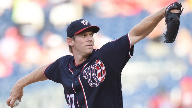 Stephen Strasburg struck out 10 and won despite a rocky beginning.
