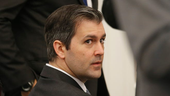 Former North Charleston Police Officer Michael Slager sits in a courtroom on October 28, 2016, in Charleston, South Carolina.