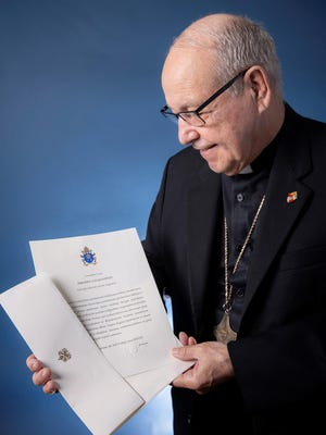 Bishop Felipe J. Estévez of the Diocese of St. Augustine received a letter from Pope Francis congratulating him on the milestone of 50 years of priesthood.