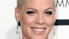 Singer Pink attends the 56th GRAMMY Awards at Staples