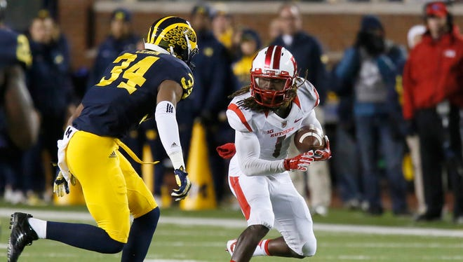Rutgers' Janarion Grant (1) and Maryland's Will Likely are the top returners in the Big Ten and they meet Saturday in Piscataway.