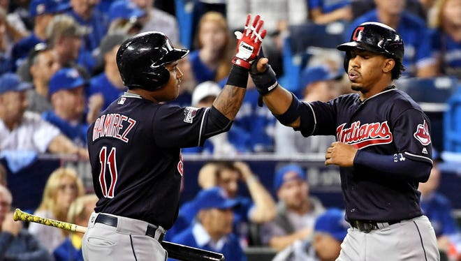 Shortstop Francisco Lindor, right, and third baseman Jose Ramirez give the Indians excellent  offense and defense on the left side of the infield.
