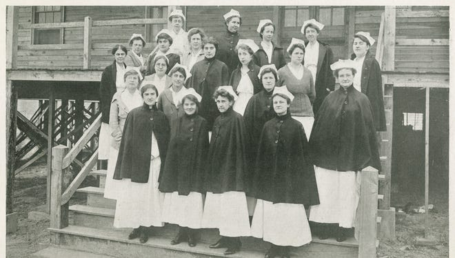Nurses at Greenville's Camp Sevier.