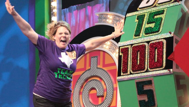 """A contestant celebrates on """"The Price is Right Live!"""""""