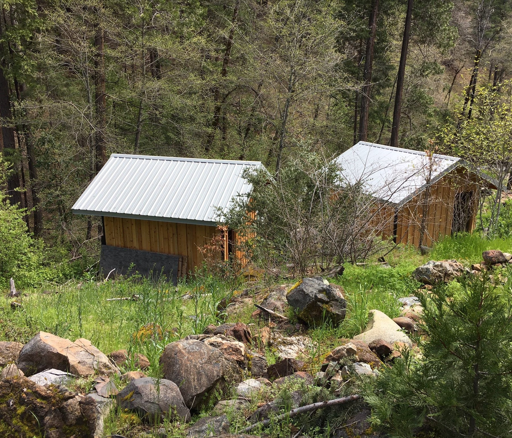 A cabin where authorities say Tad Cummins held Elizabeth Thomas for more than a week in rural Northern California.