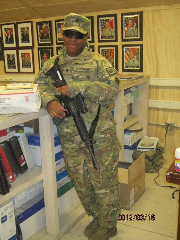 Afghanistan and Iraq War veteran Asha Harry-Davis,