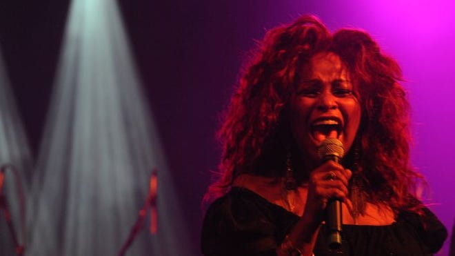 """Chaka Khan performs during the """"Super Jam"""" at the Bonnaroo Music & Arts Festival on Saturday, June 14, in Manchester, Tenn.  John Partipilo / The Tennessean"""