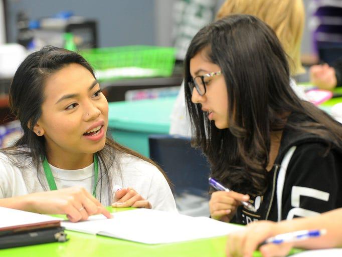 Christine Flores, an eighth-grade teacher at Monte