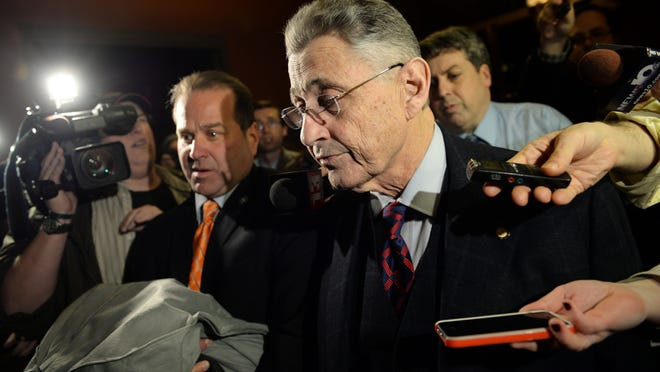 Assembly Speaker Sheldon Silver leaves his office at the Capitol building Tuesday in Albany.