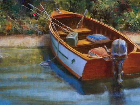 """Memories of the Minnow Bucket,"" oil on linen by William A. Suys, Jr., part of Exhibit V at Edgewood Orchard Galleries."