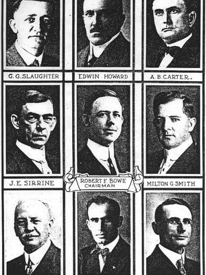 Cotton Magazine featured photographs of the nine men responsible for the first Southern Textile Exposition in Greenville in a special edition in 1915.