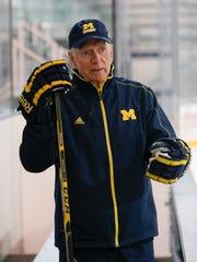 Michigan hockey coach Red Berenson