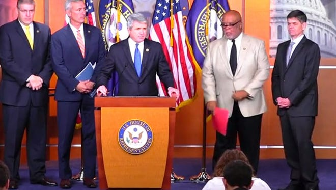 The Homeland Security Committee's bipartisan Foreign Fighter Task Force which releases its final report to the public at this press conference.