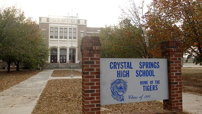 Crystal Springs High School was evacuated Wednesday morning after a bomb threat, police said.
