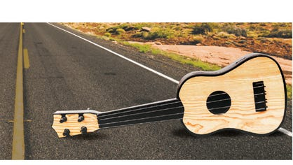 Guitar on highway