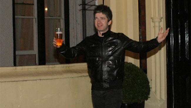 Noel Gallagher with Tennent's Lager