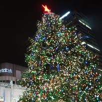 To honor the holiday season, Macy's lit their tree on Fountain Square November 27, 2015.