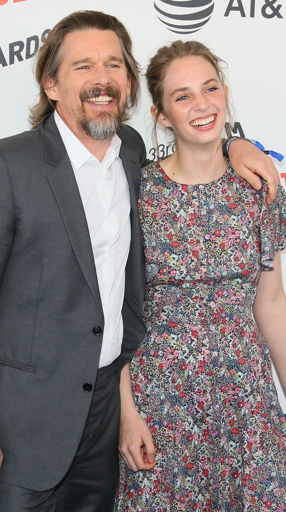 Ethan Hawke and daughter Maya Hawke were all smiles
