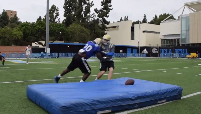 Myles Jack leveled Danny Siegel for a campaign video.