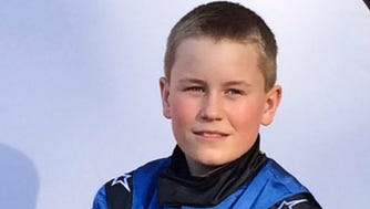 Gabe Sommers, 13, is enjoying success on the racetrack at a young age.