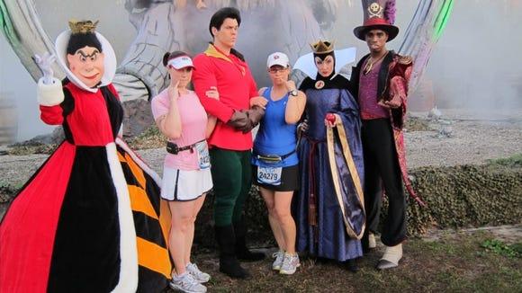 Posing with a few villians (and my friend Jen) at the 2013 Disney Marathon