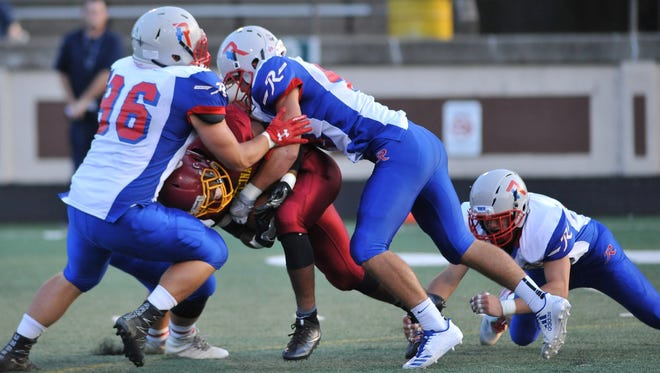 Roncalli defenders made life difficult for Scecina's offense on Friday night.