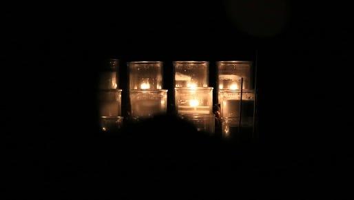 Illuminating votive candles