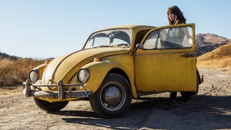 "Charlie (Hailee Steinfeld) goes on a coming-of-age journey when she gets a transforming robot car for her 18th birthday in the ""Transformers"" prequel ""Bumblebee."""